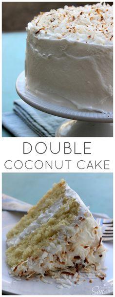 Double Coconut Cake