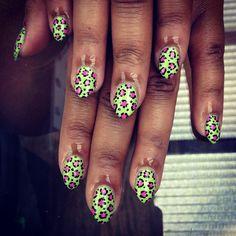 .@WAH Nails   WAH #leopard by Rae at #boxpark! #nails #nailart #wahnails
