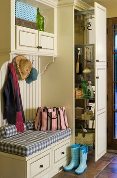 Slide out cabinet a great idea. needs to be big enough for baskets.