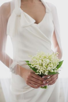 sweet lily of the valley bouquet by Oak & the Owl