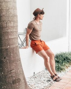 Easter outfits for teens - shop online Mode Masculine, Summer Outfits Men, Short Outfits, Justin Livingston, Men's Fashion, Fashion Outfits, Fashion Shirts, Mens Clothing Styles, Men Casual