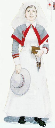 WWI nurse uniform. Reserve nurse.