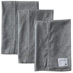 Burt's Bees Baby Set of 3 Bee Essentials Solid Burp Cloth