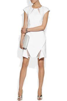 Richard Nicoll - Mesh-paneled cotton dress