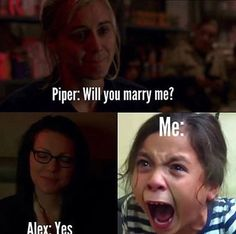 "43 Likes, 2 Comments - Vauseman (@vauseman_fann) on Instagram: ""This was literally me. ❤️#alexvause #piperchapmam #vauseman"""