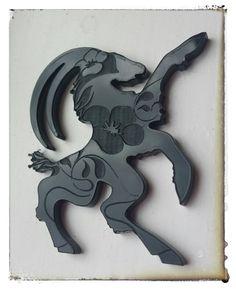 """Acrylic Billy goat / Hälsingebocken av Hälsingland """"Lina"""" Design by Tinterova"""
