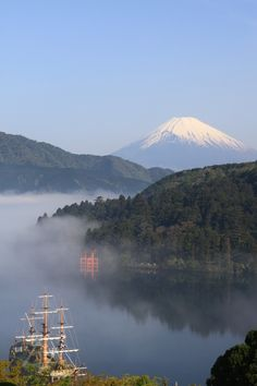 Take a cruise on Lake Ashi, Hakone, Japan. The lake is known for its views of Mt. Fuji when skies are clear and its numerous hot springs. Oh The Places You'll Go, Places To Travel, Beautiful World, Beautiful Places, Hakone Japan, Monte Fuji, Kanagawa Prefecture, Kyoto, Japan Travel