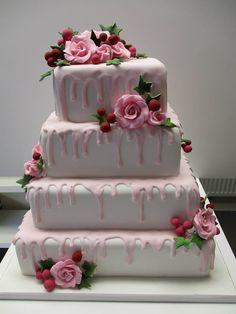 roses multi tier #cake