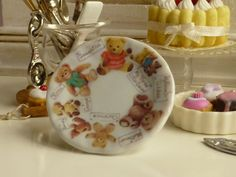 My Favorite Teddies Plate for Dollhouse by Twelvetimesmoreteeny, €3.10
