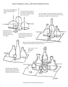 How to Draw Worksheets for The Young Artist: Printable How to Draw A Still Life…