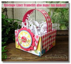 Envelope line basket - picture tutorial