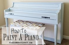 how to paint a piano. No moving, no taking it apart, no sanding. We painted it in the room it sits. In one afternoon, using our DIY chalkpaint.