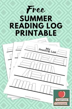 Who wants to encourage students to read? Summer Reading Log Freebie for keeping kids engaged in reading all summer long. Reading Logs, Kids Reading, Teaching Reading, Reading Workshop, Reading Fluency, Kindergarten Reading, Preschool Kindergarten, Reading Strategies, Guided Reading