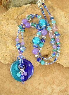 Boho Necklace Bohemian Jewelry Lampwork Glass by BohoStyleMe