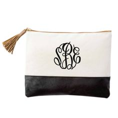 Monogrammed Chelsea Cosmetic Bag with by embellishboutiquellc, $22.99