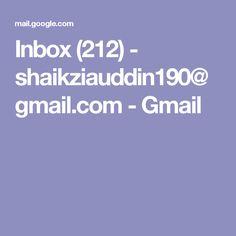 Inbox (212) - shaikziauddin190@gmail.com - Gmail