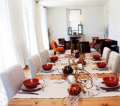 Grande table pour déjeuner de famille Croissy Sur Seine, Beautiful Homes, Table Settings, House Of Beauty, Place Settings, Tablescapes