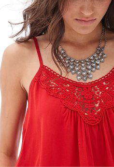 Forever 21 Crochet Chiffon Cami on shopstyle.com