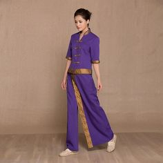 Thai spa therapist uniform 04 spa massage spa uniform for Uniform spa thailand