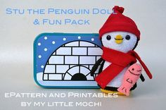 cute penguin and tin play set