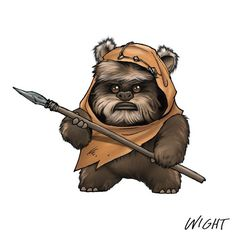 Wicket - from a great series of Star Wars alphabet character art created by Joe Wight. He threw in a little stylistic touch of Manga to the designs