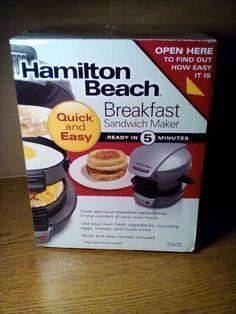 Hamilton Beach Breakfast Sandwich Maker #HamiltonBeach