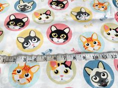 Your place to buy and sell all things handmade Cat Fabric, Woven Fabric, Cotton Fabric, Fabric Animals, Bag Patterns, Kids Rugs, Lunch, Blanket, Toys
