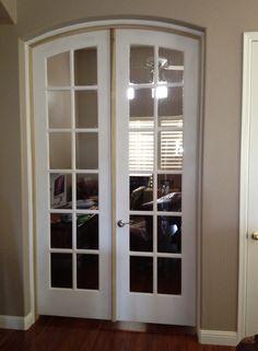 Custom Built Wood French Doors; interior; exterior ; arch top ...