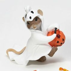 I love these little mouse figures!  Amazon.com: Charming Tails You Just Can't Hide a Happy Spirit Mouse Ghos: Patio, Lawn & Garden