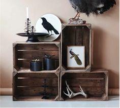 Cagette en bois - les recycler et les détourner en meuble déco - Le blog deco de MLC