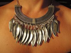 Check out this item in my Etsy shop https://www.etsy.com/listing/244204460/handmade-bohemian-statement-necklace