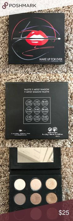 Make Up For Ever Artist Palette Volume 1 Nudes Make Up For Ever Artist Palette Volume 1 Nudes. Barely used. This is a beautiful palette I just rarely reach for it! Sephora Makeup Eyeshadow