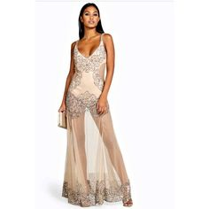 Great Gatsby sequin old Hollywood prom maxi dress Absolutely drop dead stunning. Looks so much better in real life. Color is slightly darker in person, less of an ivory and more of a cream. NWT ASOS Dresses Maxi