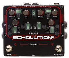 The best of analog circuitry and DSP combine to give you an unbelievably powerful and flexible delay pedal: the Pigtronix Echolution Tape Echo, Reverb Pedal, Mac Application, Digital Piano Keyboard, Pedalboard, Guitar Effects Pedals, Sound Design, Filters, Remote