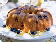 Glazed Lemon-Blueberry Poppy Seed Bundt Cake | If you need a cake recipe for your Easter meal, we've got what you need, from coconut and carrot to strawberry shortcake and pineapple upside down cake.