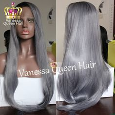 Long straight mix gray hair synthetic lace front wig silky straight hair wigs for black women gray ombre synthetic lace wig-in Synthetic Wigs from Health & Beauty on Aliexpress.com | Alibaba Group