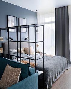 One Room Apartment, Studio Apartment Layout, Small Apartment Interior, Small Studio Apartments, Small Apartment Design, Small Apartment Living, Studio Apartment Decorating, Modern Apartments, Condo Interior Design