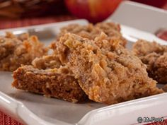 Caramel Apple Bars | mrfood.com