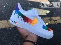 """Custom Nike Air Force 1 Drip Available in Grade School sizes and Men sizes Shoes are guaranteed authentic White Nike Air Force Custom """"Drip"""" Air Force 1 Low . Nike Air Force, Nike Shoes Air Force, Sneakers Mode, Custom Sneakers, Sneakers Fashion, Nike Custom Shoes, Fashion Shoes, Custom Converse, Custom Jordans"""