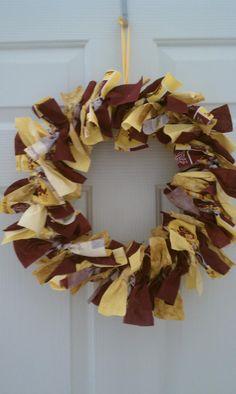 ASU ribbon wreath.  Go Sun Devils!