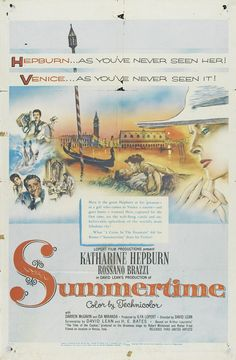 SUMMERTIME 3.5.15 With Winter seemingly never to end, I needed a reminder that somewhere in the world there is warmth and sun. A nice little movie with an unusual turn by Hepburn, director David Lean makes almost every shot look like a postcard for Venice.