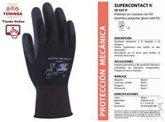 #GUANTE DE POLIAMIDA CON PALMA DE POLIURETANO. MOD. SUPERCONTACT. COLOR GRIS Teminsa Tienda Online