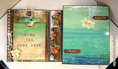 Reise-Album / Travel Album Paradise, Album, Cover, Voyage, Projects, Cards, Card Book, Heaven