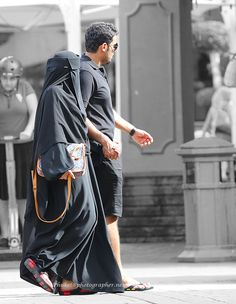 It's stiflingly hot for me in my abaya and niqab in hot weather.