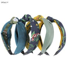 DPSaiLYY 4 PC Free Shipping Cloth Hairband Headband for Women No Slip Knotted  Headband Headwear Hair Accessories for Women 45775bb2e82a