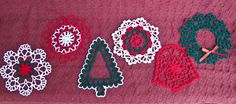 #crochet #Christmas ornaments