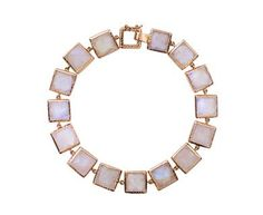 Nak Armstrong - Rainbow Moonstone Mosaic Link Bracelet in Gift Guides Wear these Forever! at TWISTonline