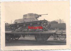 Foto 2 WK, Polen 1939, polnischer Beute Panzer auf Eisenbahn, Zug verladen, Top1 | eBay