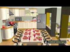 Promotions by Animated graphics from an article tittle: Presenting a kitchen hostess-centric design concept for home space integration and food models by International Recipes, Promotion, Concept, Graphics, Models, 3d, Dining, Space, Kitchen