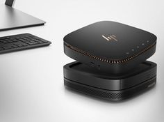 HP Pavilion Wave i HP Elite Slice: miniaturowe komputery do domu i biura Id Design, Detail Design, Copper Accents, Speaker Design, Mac Mini, Desk Setup, Apple Watch Series 1, Modular Design, Retina Display